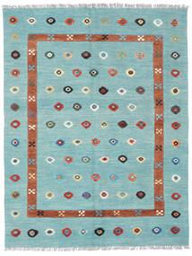 Kelim Nimbaft Teppich  153X200 Echter Moderner Handgewebter Hellblau (Wolle, Afghanistan)