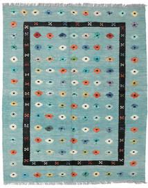 Kelim Nimbaft Teppich 157X200 Echter Moderner Handgewebter Lindgrün/Türkisblau (Wolle, Afghanistan)