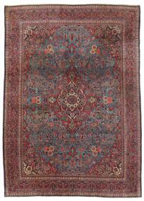 Keshan Teppich  240X339 Echter Orientalischer Handgeknüpfter Dunkelbraun/Dunkelrot (Wolle, Persien/Iran)