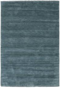 Handloom Fringes - 2. Wahl Teppich 160X230 Moderner Schwartz/Dunkelblau (Wolle, Indien)