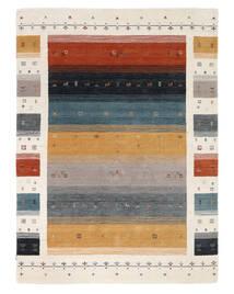 Loribaf Loom Designer - Multi Teppich  160X230 Moderner Schwartz/Weiß/Creme (Wolle, Indien)