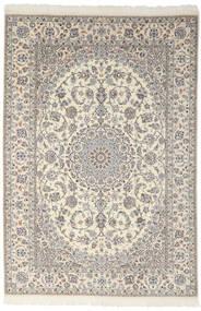 Nain 9La Teppich  200X301 Echter Orientalischer Handgeknüpfter Dunkelgrau/Hellgrau (Wolle/Seide, Persien/Iran)