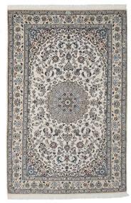 Nain 9La Teppich  165X250 Echter Orientalischer Handgeknüpfter Dunkelgrau/Hellgrau/Schwartz (Wolle/Seide, Persien/Iran)