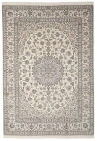 Nain 9La Teppich  250X355 Echter Orientalischer Handgeknüpfter Dunkelgrau/Hellgrau Großer (Wolle/Seide, Persien/Iran)