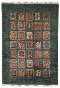 Shabargan Teppich  119X176 Echter Moderner Handgeknüpfter Schwartz/Dunkelbraun (Wolle, Afghanistan)