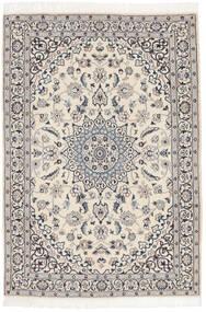 Nain 9La Teppich  117X169 Echter Orientalischer Handgeknüpfter Hellgrau/Dunkelgrau/Dunkel Beige (Wolle/Seide, Persien/Iran)