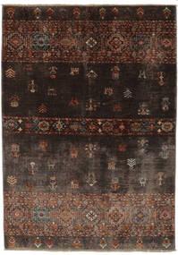 Shabargan Teppich  127X186 Echter Moderner Handgeknüpfter Schwartz/Dunkelbraun (Wolle, Afghanistan)