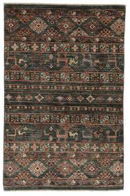 Modern Afghan Teppich  87X132 Echter Moderner Handgeknüpfter Schwartz/Dunkelbraun (Wolle, Afghanistan)