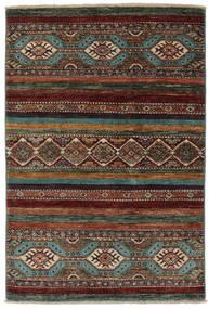 Modern Afghan Teppich  85X123 Echter Moderner Handgeknüpfter Schwartz/Dunkelbraun (Wolle, Afghanistan)