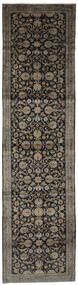 Keshan Teppich  103X395 Echter Orientalischer Handgeknüpfter Läufer Schwartz/Dunkelbraun (Wolle, Persien/Iran)