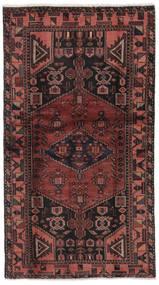 Hamadan Teppich 101X186 Echter Orientalischer Handgeknüpfter Schwartz/Dunkelbraun (Wolle, Persien/Iran)