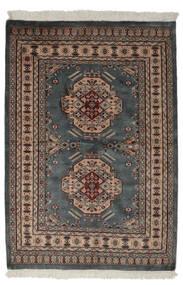 Pakistan Buchara 2Ply Teppich  130X190 Echter Orientalischer Handgeknüpfter Schwartz/Dunkelbraun (Wolle, Pakistan)