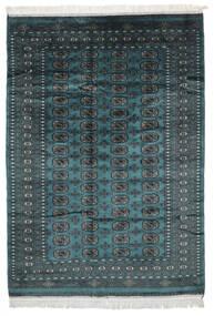 Pakistan Buchara 2Ply Teppich  155X217 Echter Orientalischer Handgeknüpfter Schwartz/Dunkel Türkis (Wolle, Pakistan)