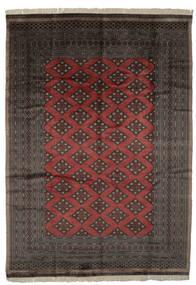 Pakistan Buchara 3Ply Teppich  227X320 Echter Orientalischer Handgeknüpfter Schwartz/Dunkelbraun (Wolle, Pakistan)