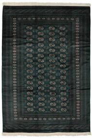 Pakistan Buchara 2Ply Teppich  190X277 Echter Orientalischer Handgeknüpfter Schwartz (Wolle, Pakistan)