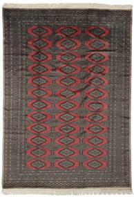 Pakistan Buchara 2Ply Teppich  190X263 Echter Orientalischer Handgeknüpfter Schwartz/Dunkelbraun (Wolle, Pakistan)