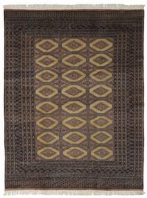 Pakistan Buchara 2Ply Teppich  191X244 Echter Orientalischer Handgeknüpfter Schwartz/Dunkelbraun (Wolle, Pakistan)