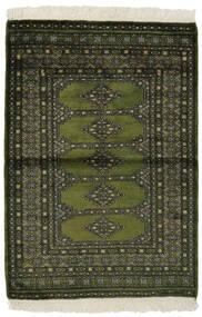 Pakistan Buchara 3Ply Teppich  99X145 Echter Orientalischer Handgeknüpfter Schwartz/Dunkelgrün (Wolle, Pakistan)