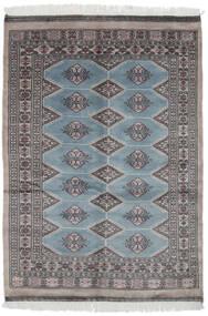 Pakistan Buchara 3Ply Teppich  126X180 Echter Orientalischer Handgeknüpfter Schwartz/Dunkelgrau (Wolle, Pakistan)