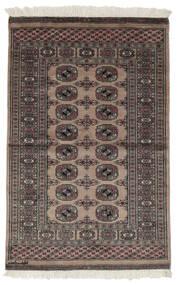 Pakistan Buchara 2Ply Teppich  94X150 Echter Orientalischer Handgeknüpfter Schwartz/Dunkelbraun (Wolle, Pakistan)