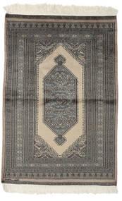 Pakistan Buchara 2Ply Teppich  95X143 Echter Orientalischer Handgeknüpfter Schwartz/Dunkelgrau (Wolle, Pakistan)