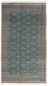 Pakistan Buchara 3Ply Teppich 152X272 Echter Orientalischer Handgeknüpfter Dunkelgrau/Schwartz (Wolle, Pakistan)