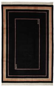 China 90 Line Teppich  183X274 Echter Orientalischer Handgeknüpfter Schwartz (Wolle, China)