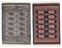 Pakistan Buchara 2Ply Teppich  64X94 Echter Orientalischer Handgeknüpfter Schwartz/Dunkelrot (Wolle, Pakistan)