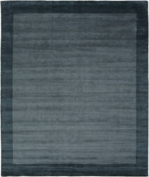 Handloom Frame - Petrol Blau Teppich  250X300 Moderner Schwartz/Dunkelblau Großer (Wolle, Indien)