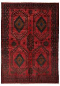 Belutsch Teppich 180X252 Echter Orientalischer Handgeknüpfter Schwartz/Dunkelrot (Wolle, Afghanistan)