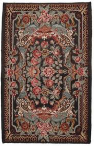 Kelim Rosen Moldavia Teppich  216X335 Echter Orientalischer Handgewebter Schwartz/Dunkelbraun (Wolle, Moldawien)