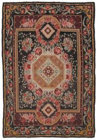 Kelim Rosen Moldavia Teppich 216X306 Echter Orientalischer Handgewebter Dunkelbraun/Schwartz (Wolle, Moldawien)