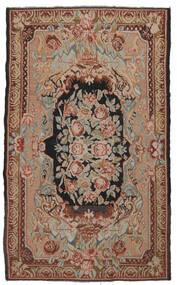 Kelim Rosen Moldavia Teppich  204X338 Echter Orientalischer Handgewebter Dunkelbraun/Braun (Wolle, Moldawien)