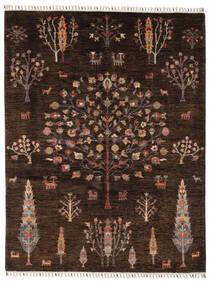 Mamluk Teppich  158X205 Echter Moderner Handgeknüpfter Schwartz/Dunkelbraun (Wolle, Afghanistan)