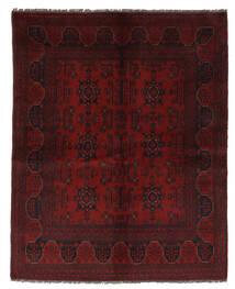Afghan Khal Mohammadi Teppich 153X190 Echter Orientalischer Handgeknüpfter Schwartz/Beige (Wolle, Afghanistan)