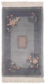 China 90 Line Teppich  91X152 Echter Orientalischer Handgeknüpfter Dunkelgrau/Schwartz (Wolle, China)