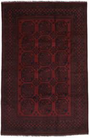 Afghan Teppich  185X285 Echter Orientalischer Handgeknüpfter Schwartz (Wolle, Afghanistan)