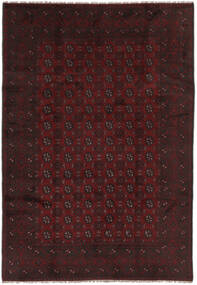 Afghan Teppich  191X285 Echter Orientalischer Handgeknüpfter Schwartz (Wolle, Afghanistan)