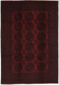 Afghan Teppich  196X294 Echter Orientalischer Handgeknüpfter Schwartz (Wolle, Afghanistan)