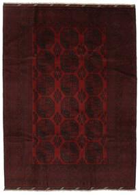 Afghan Teppich  204X282 Echter Orientalischer Handgeknüpfter Schwartz (Wolle, Afghanistan)
