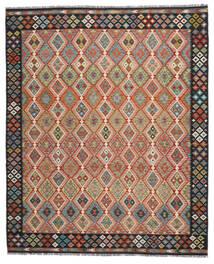 Kelim Afghan Old Style Teppich  260X304 Echter Orientalischer Handgewebter Rot/Schwartz Großer (Wolle, Afghanistan)