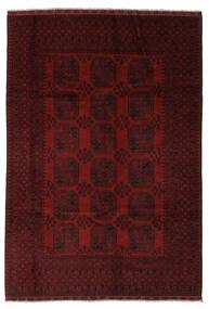 Afghan Teppich  193X285 Echter Orientalischer Handgeknüpfter Schwartz (Wolle, Afghanistan)