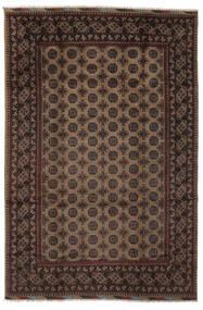 Afghan Teppich  197X296 Echter Orientalischer Handgeknüpfter Schwartz/Dunkelbraun (Wolle, Afghanistan)
