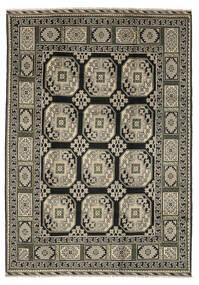 Afghan Teppich  199X286 Echter Orientalischer Handgeknüpfter Schwartz/Dunkelbraun (Wolle, Afghanistan)