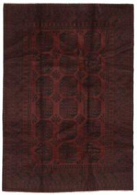 Afghan Teppich  197X297 Echter Orientalischer Handgeknüpfter Schwartz (Wolle, Afghanistan)