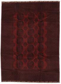 Afghan Teppich  215X293 Echter Orientalischer Handgeknüpfter Schwartz (Wolle, Afghanistan)