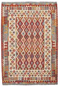 Kelim Afghan Old Style Teppich  170X247 Echter Orientalischer Handgewebter Dunkelbraun/Dunkelrot (Wolle, Afghanistan)