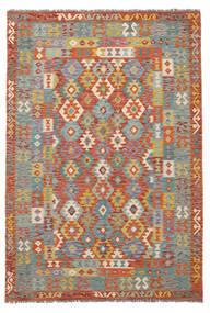 Kelim Afghan Old Style Teppich  171X252 Echter Orientalischer Handgewebter Dunkelbraun/Dunkelgrau (Wolle, Afghanistan)