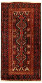 Belutsch Teppich  96X193 Echter Orientalischer Handgeknüpfter (Wolle, Persien/Iran)
