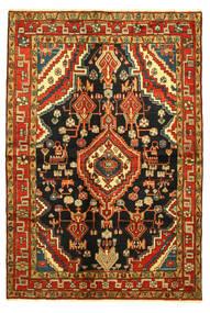 Hamadan Teppich  138X203 Echter Orientalischer Handgeknüpfter (Wolle, Persien/Iran)